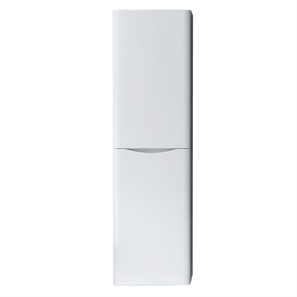 1400mm Right Hand Gloss White Tall Cupboard Storage ...