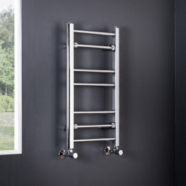 Essentials 700 x 400mm Straight Chrome Heated Towel Rail