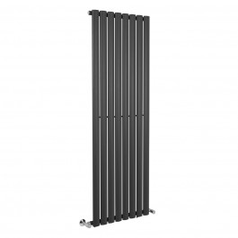 Norden 1600 x 560mm Sand Grey Single Oval Tube Vertical Radiator