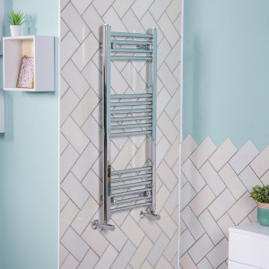 Bergen Towel Radiator 1000 x 395 - Chrome