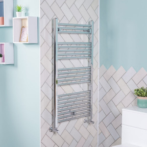 Bergen Towel Radiator 1150 x 600 Chrome