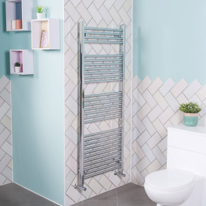 Bergen Towel Radiator 1200 x 495 Chrome
