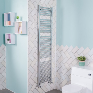 Bergen Towel Radiator 1800 x 450 Chrome