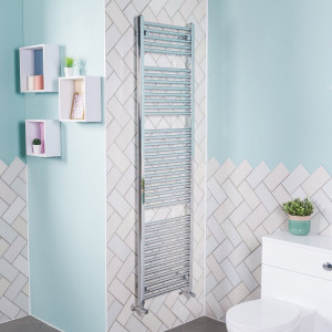 Bergen Towel Radiator 1800 x 500 - Chrome