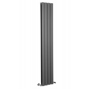 Karlstad 1800 x 306mm Sand Grey Double Flat Panel Vertical Radiator