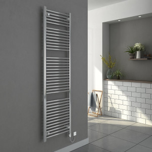 Bergen 1800 x 500mm Straight Chrome Electric Heated Thermostatic Towel Rail