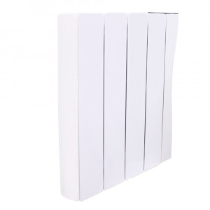 Bismo Wifi 575 x 516mm White Wall or Floor Mounted 1000W Oil Filled Electric Radiator