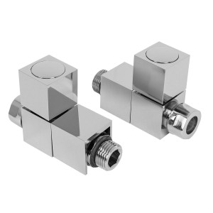15mm Designer Square Straight Radiator Valves - Tecnical