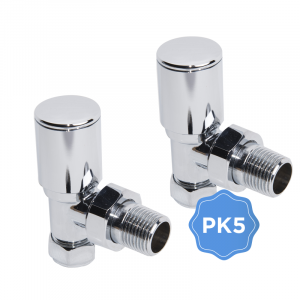 Pack of 5 x 15mm Angled Designer Radiator Valves