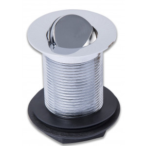 Unslotted Turn Over Basin Waste - Chrome