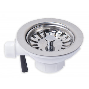 Stainless Steel Basket Strainer with overflow connection