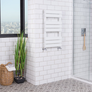 Juva Towel Radiator 800 x 450 - White