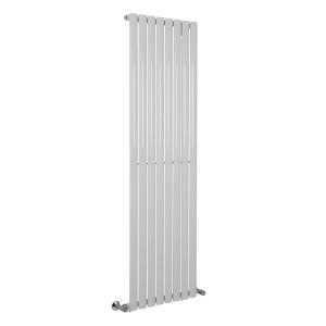 Norden 1600 x 480mm White Single Oval Tube Vertical Radiator