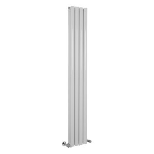 Norden 1600 x 240mm White Double Oval Tube Vertical Radiator