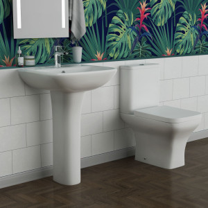 Feel Curved Toilet & Basin Suite