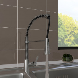 Porto Mono Kitchen Sink Mixer Tap with Pull Out Rinser