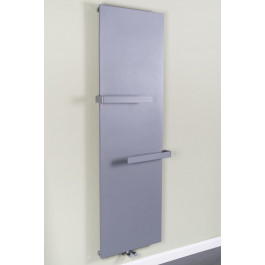 Copenhagen 1925 x 604mm Light Grey Flat Panel Vertical Radiator with Towel Rail