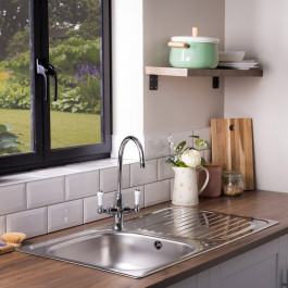 Leisure Linear LR9501XS 950 x 508mm Large Single Bowl Kitchen Sink - Stainless Steel
