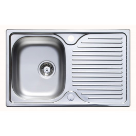 Astracast Parallel 800 x 500mm Single Bowl Compact Kitchen Sink - Stainless Steel