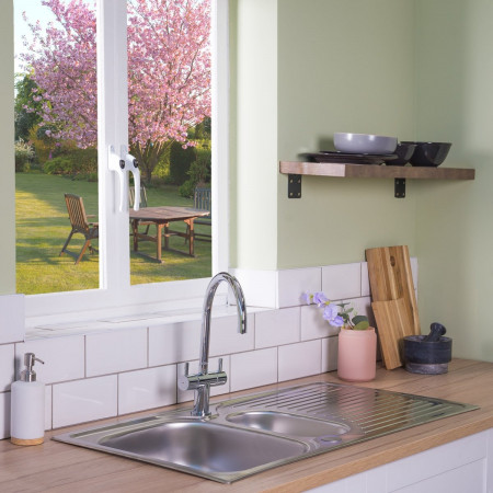 Astracast Parallel 965 x 500mm 1.5 Bowl Kitchen Sink - Stainless Steel
