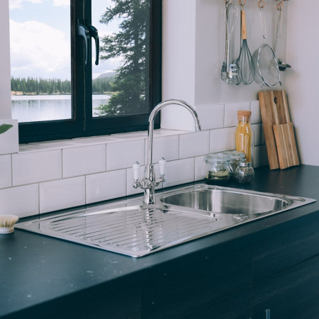 Valle Taber 950x500mm Single Bowl Kitchen Sink - Stainless Steel