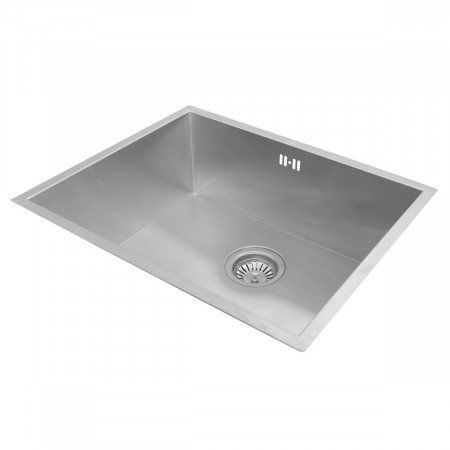 Valle Breton 540x440mm Single Bowl Undermounted Kitchen Sink - Stainless Steel