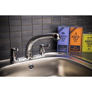Essentials Lever Deck Mounted Sink Mixer Tap