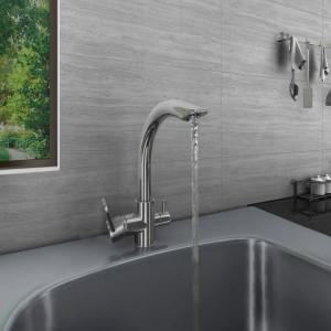 Valle Sydney Mono Kitchen Sink Mixer Tap with Filter - Stainless Steel