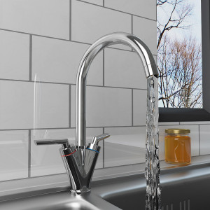Long Kitchen Sink Tap