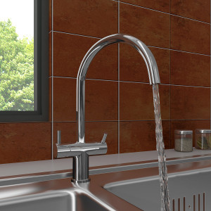 Bedo Two Handle Mono Kitchen Sink Mixer Tap