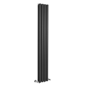 Norden 1600 x 240mm Graphite Double Oval Tube Vertical Radiator
