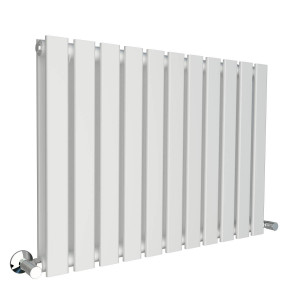 Karlstad 600 x 828mm White Double Flat Panel Horizontal Radiator