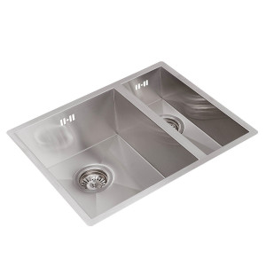 Valle Vancouver 550 x 440mm 1.5 Bowl Undermounted Kitchen Sink - Stainless Steel