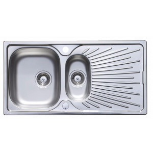 Astracast Sunrise 965 x 500mm 1.5 Bowl Kitchen Sink - Stainless Steel