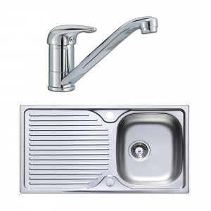 Astracast Parallel 965 x 500mm Single Bowl Stainless Steel Kitchen Sink & Tap Pack